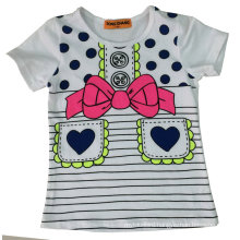 Fashion Girl T-Shirt with Printing Glass Sgt-043