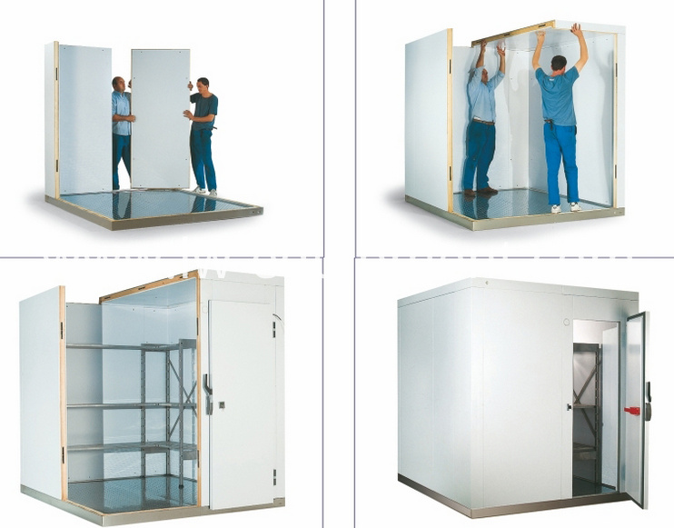 the installation of walk-in cold room