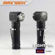 Aluminium de qualité aéronautique Rechargeble Maxtoch LIGHTPEA lampe Portable LED