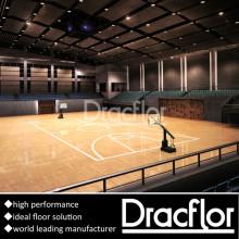 Plancher de basketball en bois de qualité supérieure en PVC (S-8010)