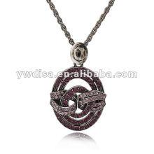 Самое новое ожерелье сплава Inlayed ожерелья 2013 кристаллическое малое MOQ