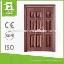 Oversize cobre imitação de cobre porta de aço com design de luxo