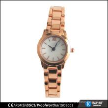 Moda reloj de cuarzo mujeres tendencia diseño simple reloj metal dial Japón movimiento pc21