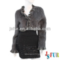 2013 New product short style beautiful party lovely grey rabbit fur coat