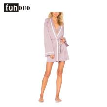 2018 новый женский халат с длинным рукавом розовой пижамы для женщин 2018 новый женский халат с длинным рукавом розовой пижамы для женщин