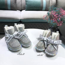 2020 The latest popular style mother-daughter parent-child suit glitter winter snow boots