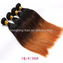 Meistverkaufte Produkte 2 Ton Ombre 100% Virgin unverarbeitete farbige peruanische Haarwebart