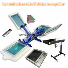 TM-R4k 2-Station 4 Color T-Shirts Screen Printing Machine