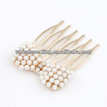 Golden With Pearl Beads Accessoires en peigne pour cheveux10090349