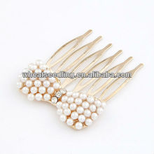 Golden With Pearl Beads Hair Comb Accessories10090349
