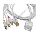 TV RCA Video Composite AV-Kabel + USB für Apple iPad 2 iPhone 4 4 3GS iPod Touch
