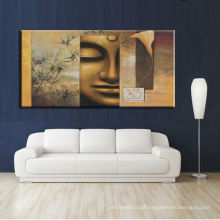 Pintura a óleo de Buddha impressa em canvas