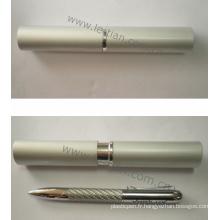 Stylo promotionnel de fil d'acier de cadeau avec la boîte en métal (LT-C340)