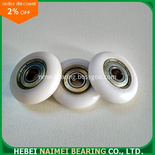 608zz 626zz 625zz convex round plastic roller