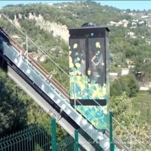 Sightseeing Glass Commercial Tourism Passagier geneigten Aufzug