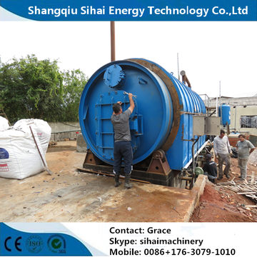 Easy Operation Waste Tyre Recycle To Oil Plant