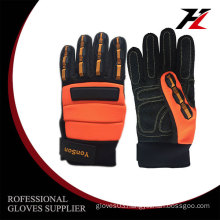 New design micro fiber construction reinforced patch anti slip glove