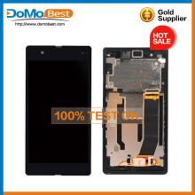 Низкая цена для Sony xperia Z L36H полный оригинальный LCD сенсорный экран дигитайзер кадр Ассамблея