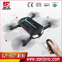 H37 Mini Baby ELFIE Drone con 720 P wifi fpv HD Cámara plegable selfie drone Dual Remote Control