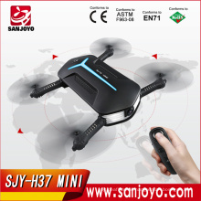 H37 Mini Baby ELFIE Drone with 720P wifi fpv HD Camera Foldable selfie drone Dual Remote Control