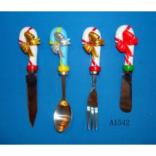 Stainless Steel Spoon with Polyresin Handle