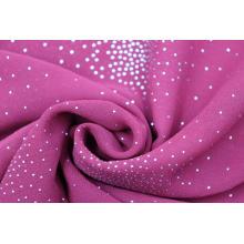 Mousseline de soie 100% polyester avec tissu goutte
