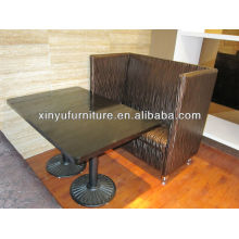 New design restaurant tables and booth sofa XY0900
