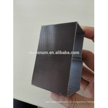 Perfil de alumínio anodizado de diferentes cores