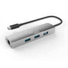 3 port usb 3.0 hub, USB 3.0 Gigabit Ethernet adapter, Support Wake-on-LAN Function