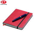 Pocket Red PU Cover Kulit Notebook