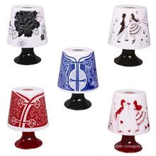Design de lâmpada de mesa retro criativo Suporte de tecido de plástico (ZJH021)