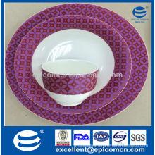 30pcs round wholesale new bone China dinnerware set, porcelain and ceramic tableware wholesale