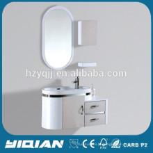 Gabinete de banheiro de madeira de parede impermeável e comercial moderno