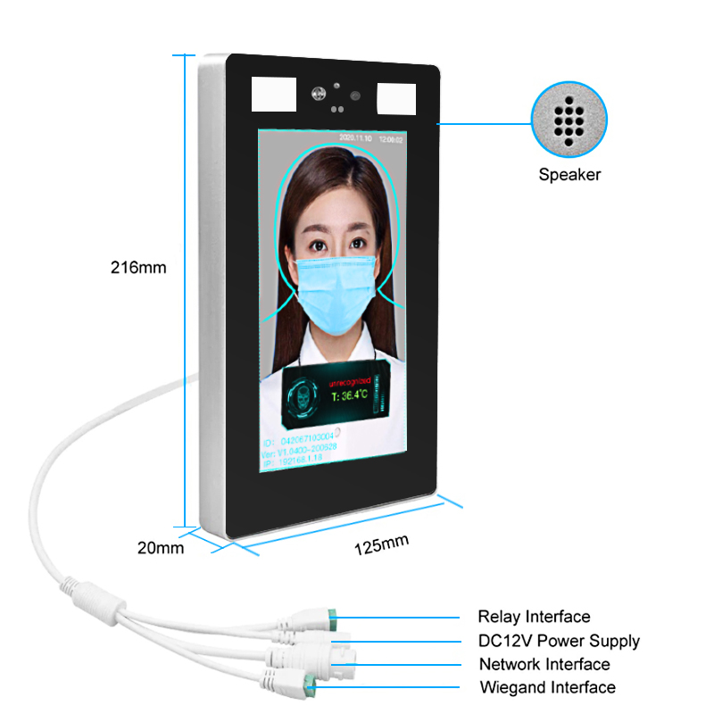 8 Inch Face Recognition Thermometer