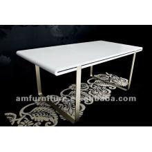 Новый дизайн высокий лоск Е1 МДФ обеденный стол