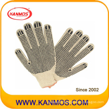 Natural Tc Cotton Knitted PVC Dots Industrial Safety Work Glove (61003TC)