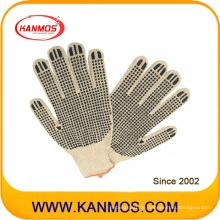 Natürliche Tc Baumwolle gestrickte PVC-Punkte Arbeitsschutz-Handschuh (61003TC)