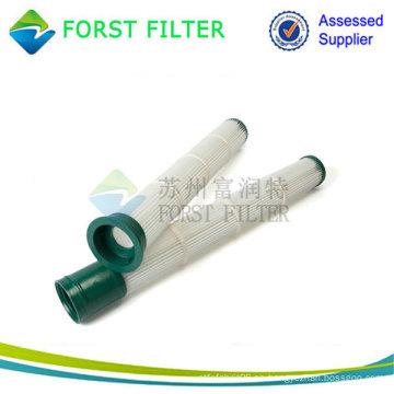 Elemento de filtro plisado de carga inferior con tapa metálica pasivada