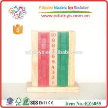 Bloques de construcción de madera baratos aprendizaje de juguetes
