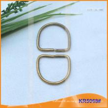 Tamaño interior 22mm Metal Hebillas, Regulador de metal, Metal D-Ring KR5068