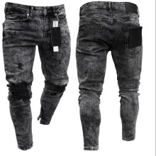 Cheapest Product Fashion Men′s Trousers & Pants High Quality Hollow out Men Skinny Jeans Pants