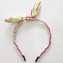 Fashion Rabbit Bunny Ear Hairbands Girl Bow Headwear
