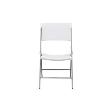 Buena venta al aire libre plegable plástico silla de comedor blanco