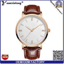 Logotipo personalizado YXL-011 reloj de mujer correa de cuero por mayor, venta caliente reloj Dw