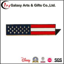 Pinos feitos sob encomenda da lapela do metal da bandeira nacional da qualidade para a roupa