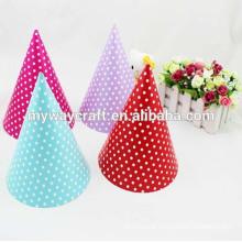 Parabéns festa popular venda quente chapéu de festa colorido papel pontilhado