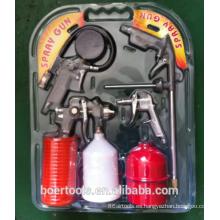 Air Gun 5pcs Kit blister doble bolsa de plástico gravedad gravedad taza pistola