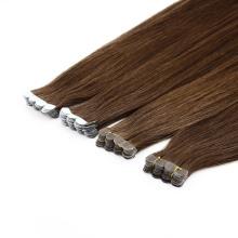 Dark Brown Straight 20inch Blue Tape Hair Invisable Human Hair Extension Remy Virgin Hair