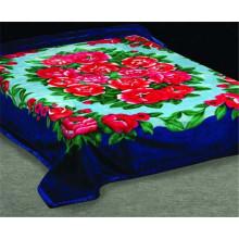 Blue Color Rose Printed Polyester Moving Blanket