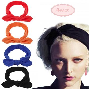 Damen Soft Crochet Bow Twist Haarband